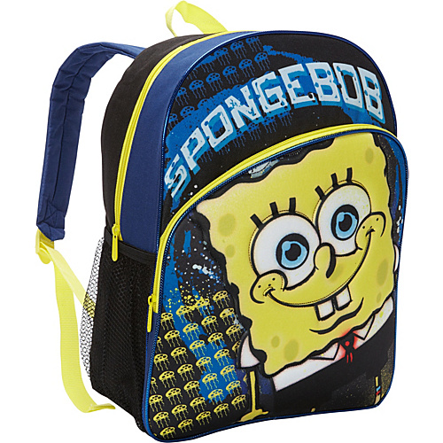 Nickelodeon Spongebob Squarepants Backpack Black - Nickelodeon School & Day Hiking Backpacks