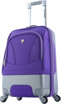 Olympia USA Majestic 21 inch Carry-On Spinner Plum - Olympia USA Hardside Carry-On