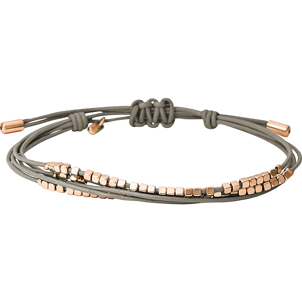 Fossil Multi Nugget Wrap Grey/Rose Gold - Fossil Other Fashion Accessories - Fashion Accessories, Other Fashion Accessories