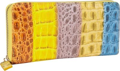 R & R Collections Zip Around Ladies Wallet MULTI - R & R Collections Women's Wallets