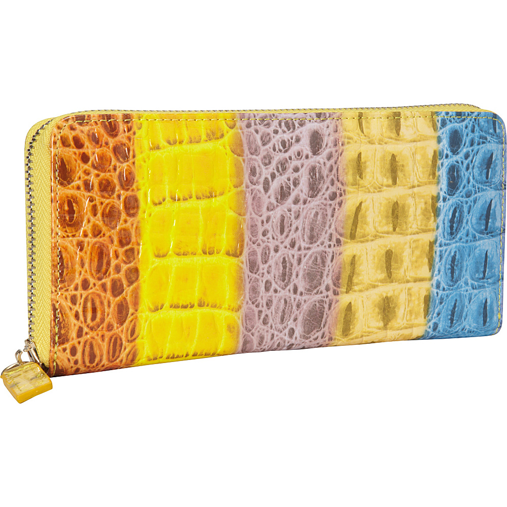 R R Collections Zip Around Ladies Wallet MULTI R R Collections Women s Wallets