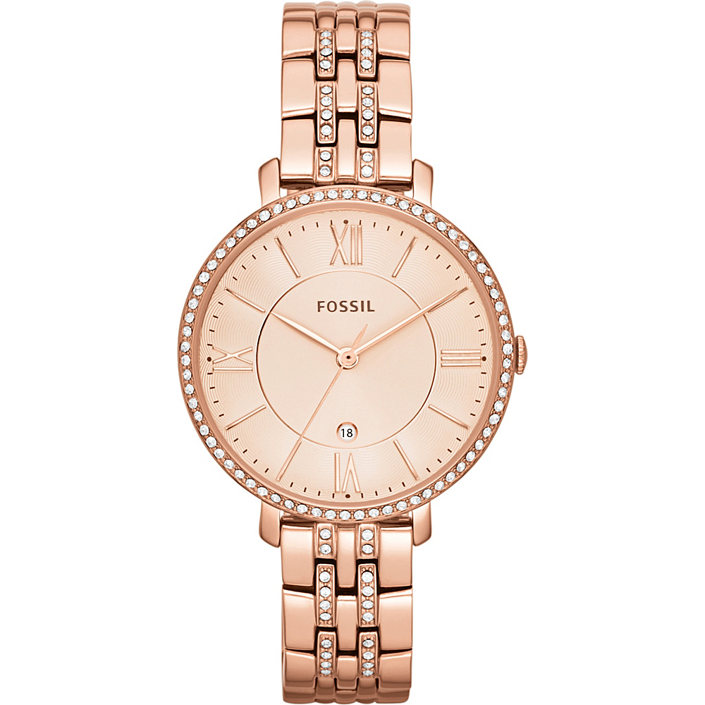 Fossil Womens Jacqueline Bracelet Watch Rose Gold - Fossil Watches - Fashion Accessories, Watches