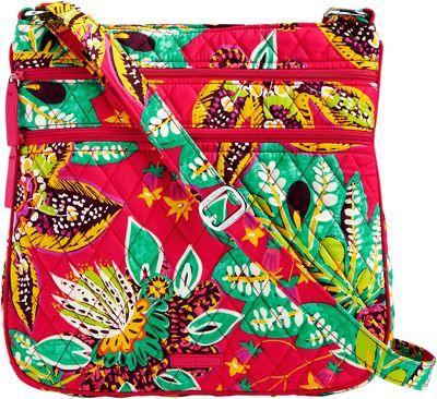 Vera Bradley Triple Zip Hipster Crossbody Rumba - Vera Bradley Fabric Handbags