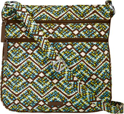Vera Bradley Triple Zip Hipster Crossbody Rain Forest - Vera Bradley Fabric Handbags