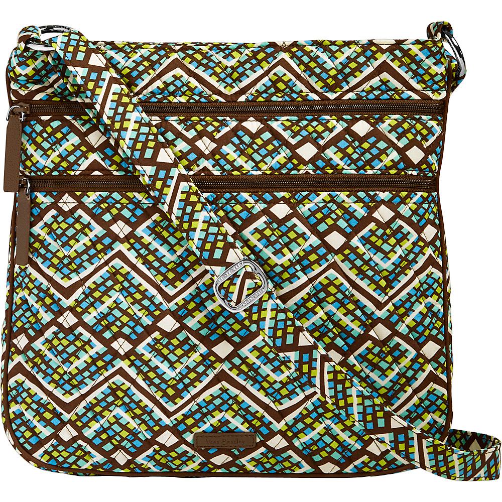 Vera Bradley Triple Zip Hipster Crossbody Rain Forest - Vera Bradley Fabric Handbags - Handbags, Fabric Handbags