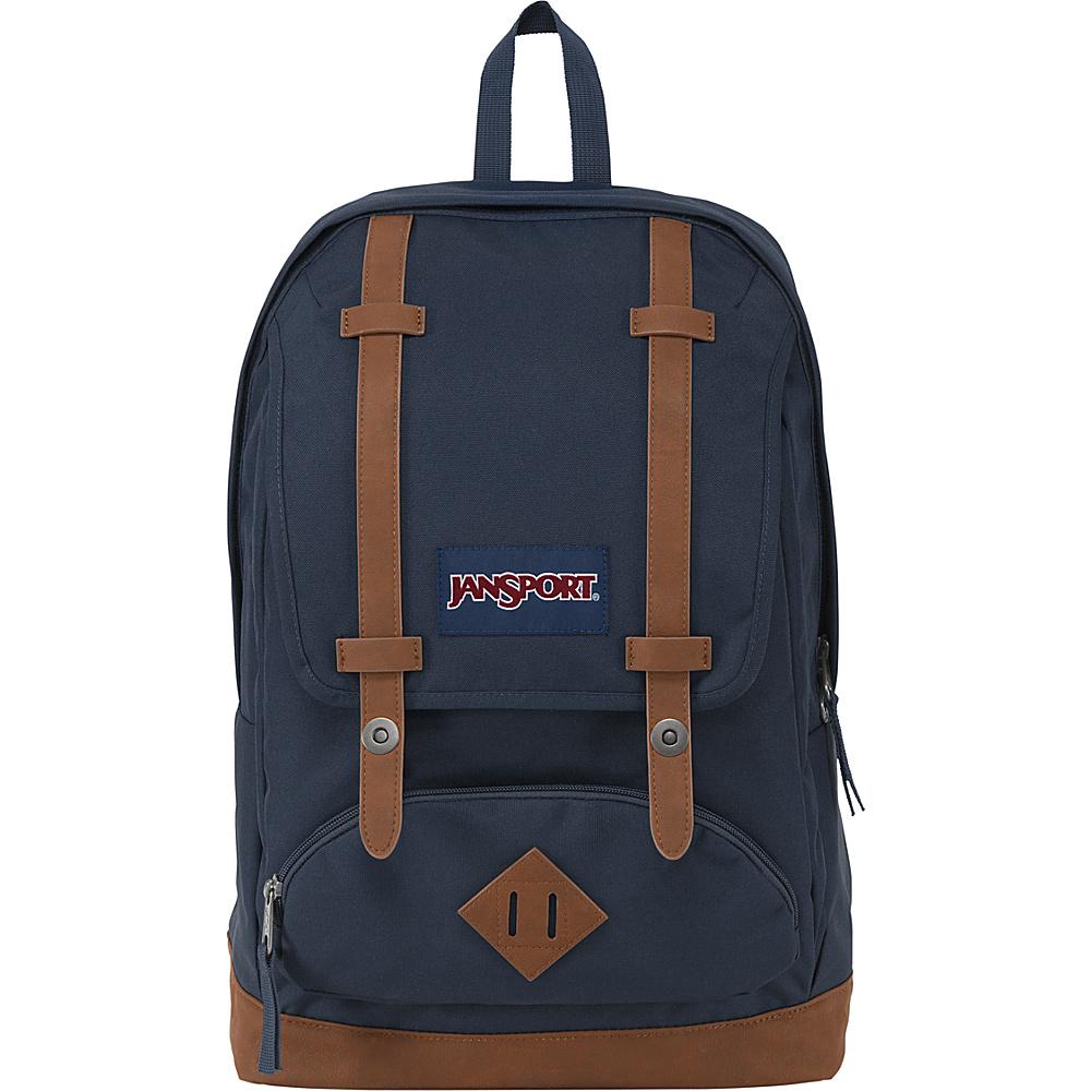 JanSport Cortlandt Backpack Navy/Tan - JanSport Everyday Backpacks - Backpacks, Everyday Backpacks