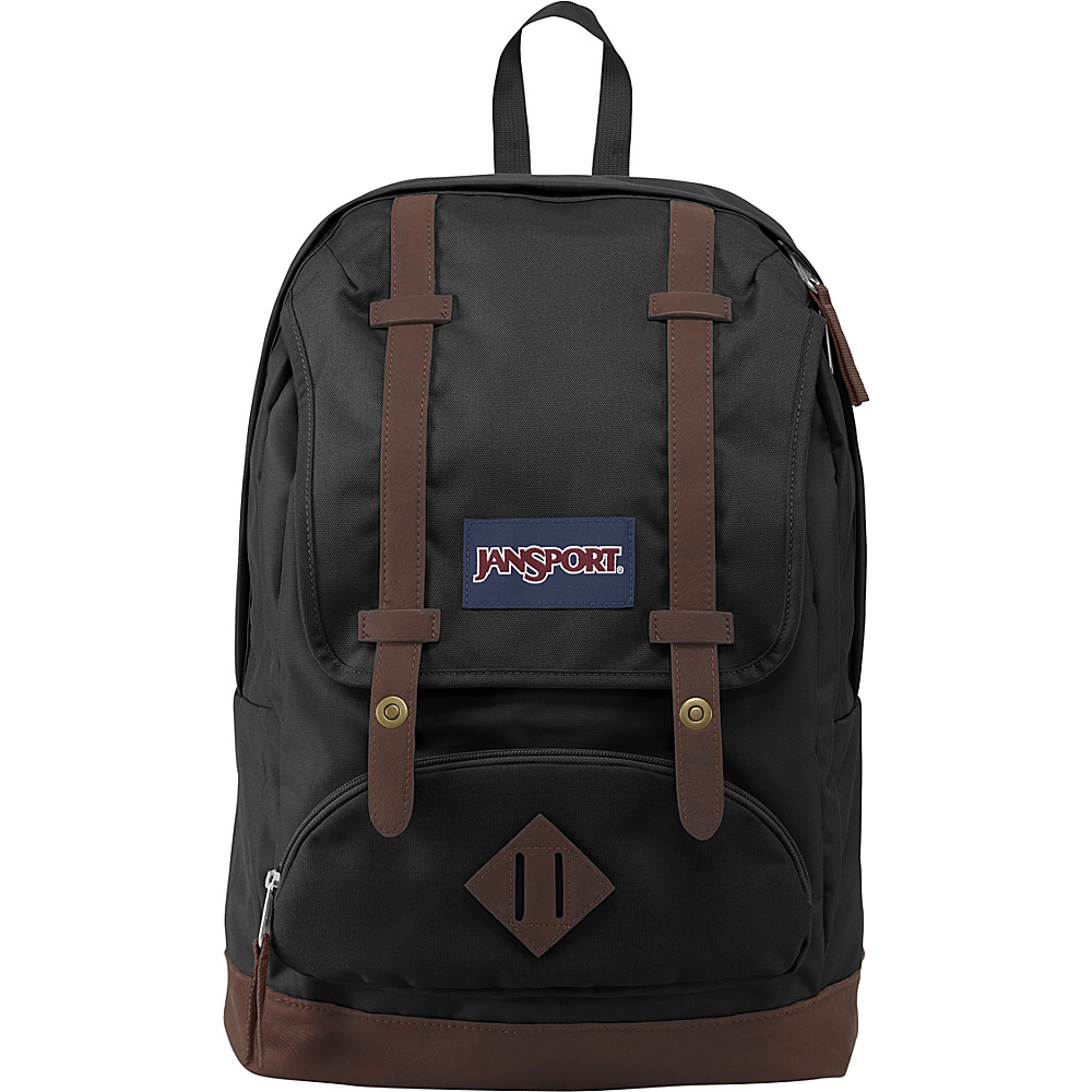 JanSport Cortlandt Backpack Black - JanSport Everyday Backpacks
