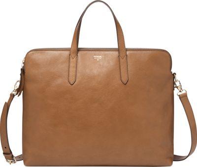 Fossil Sydney Crossbody Work Bag Camel - Fossil Leather Handbags