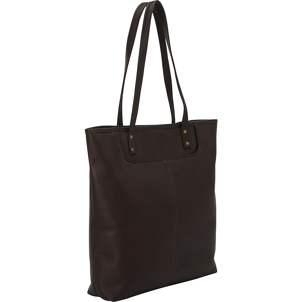Le Donne Leather Fly Away Tote Cafe - Le Donne Leather Leather Handbags - Handbags, Leather Handbags