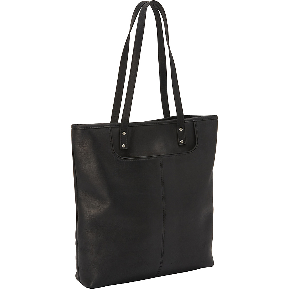 Le Donne Leather Fly Away Tote Black - Le Donne Leather Leather Handbags - Handbags, Leather Handbags