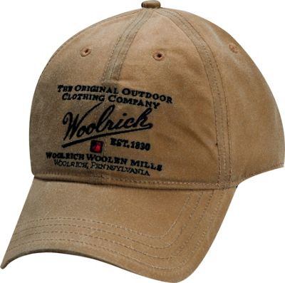 Woolrich Oil Cloth Baseball Cap Hat One Size - Tan - Woolrich Hats/Gloves/Scarves