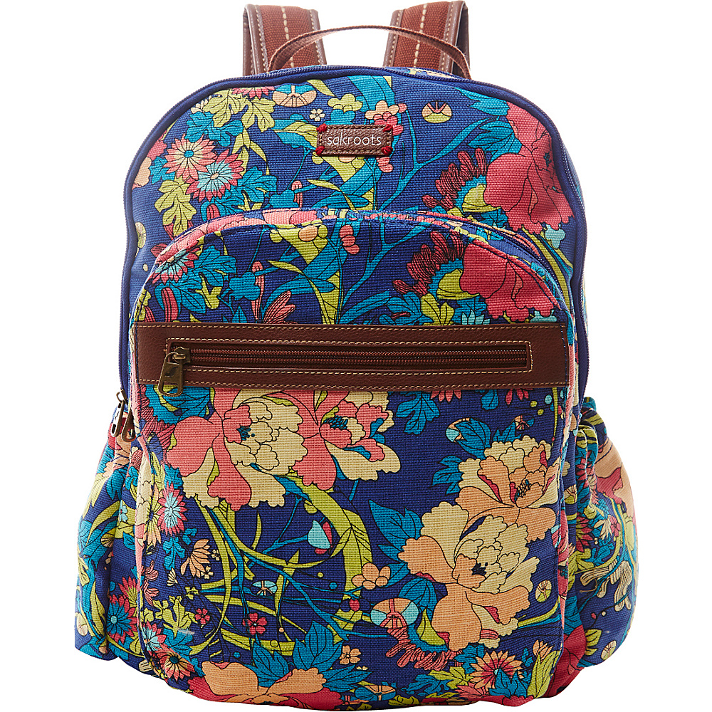 Sakroots Artist Circle Classic Backpack Royal Flower Power - Sakroots Everyday Backpacks - Backpacks, Everyday Backpacks