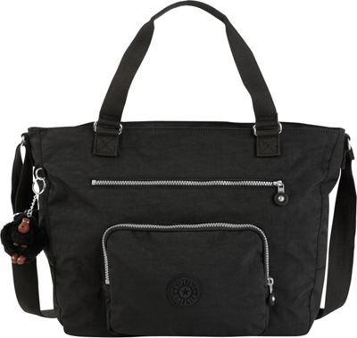 Kipling Maxwell Convertible Tote Black - Kipling Fabric Handbags