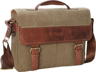 Bugatti Capetown Briefcase Khaki - Bugatti Non-Wheeled Business Cases
