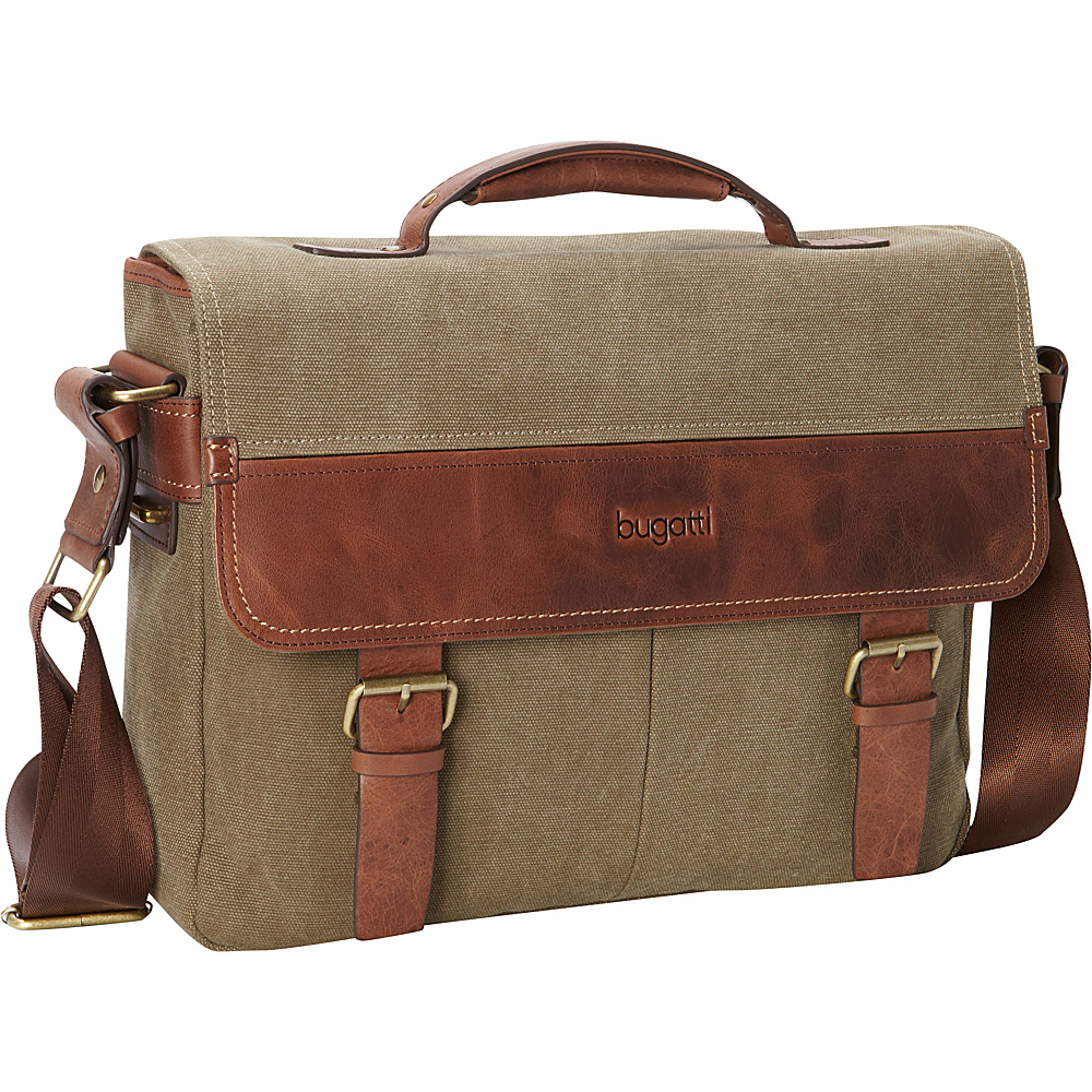 Bugatti Capetown Briefcase Khaki Bugatti Non Wheeled Business Cases