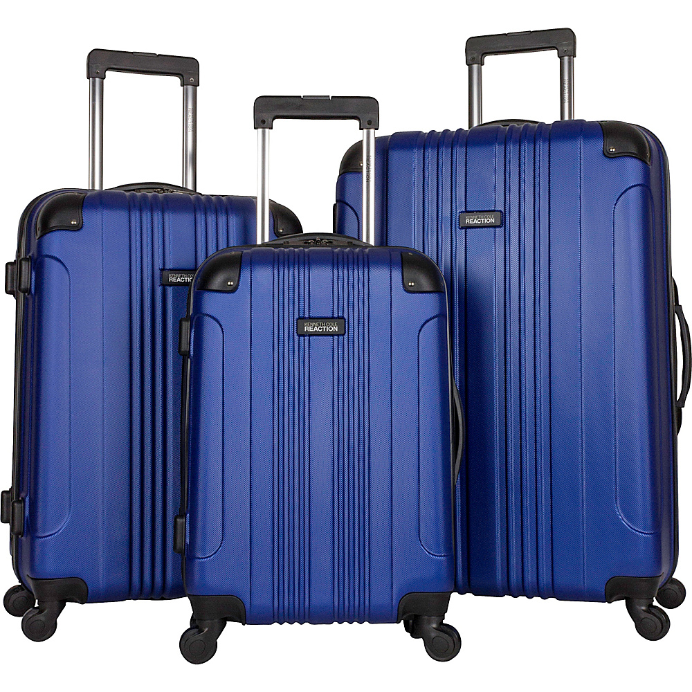 Kenneth Cole Reaction Out of Bounds 3 Piece Hardside Spinner Luggage Set Cobalt Blue Kenneth Cole Reaction Luggage Sets