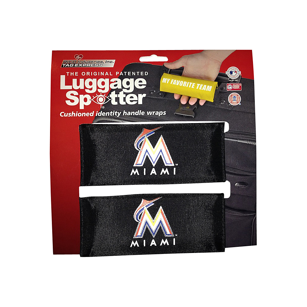 Luggage Spotters MLB Miami Marlins Luggage Spotter Black Luggage Spotters Luggage Accessories