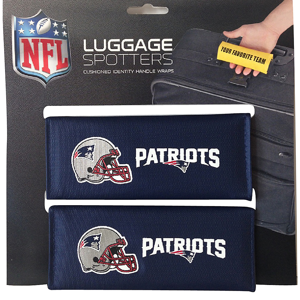 Luggage Spotters NFL New England Patriots Luggage Spotter Blue Luggage Spotters Luggage Accessories