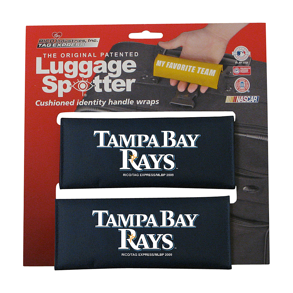 Luggage Spotters MLB Tampa Bay Rays Luggage Spotter Blue Luggage Spotters Luggage Accessories
