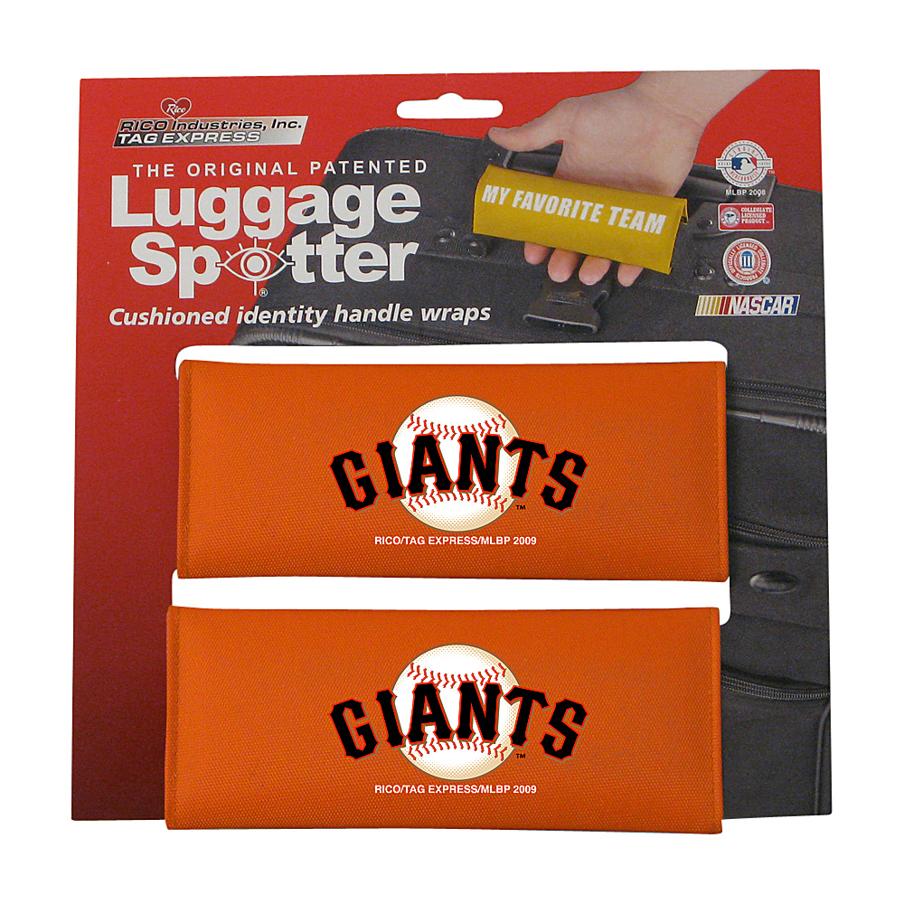 Luggage Spotters MLB San Francisco Giants Luggage Spotter Orange Luggage Spotters Luggage Accessories
