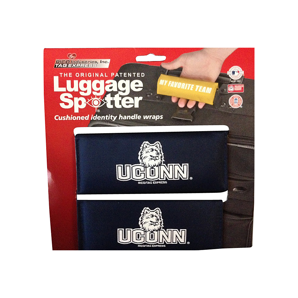 Luggage Spotters NCAA UCONN Huskies Luggage Spotter Blue Luggage Spotters Luggage Accessories