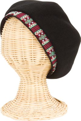San Diego Hat Wool Beret Hat With Jacquard Band At Opening
