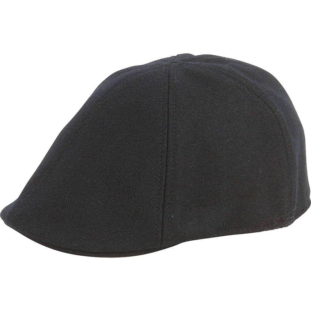 San Diego Hat Wool 6 Panel Driver with Inner Stretchband Black - San Diego Hat Hats