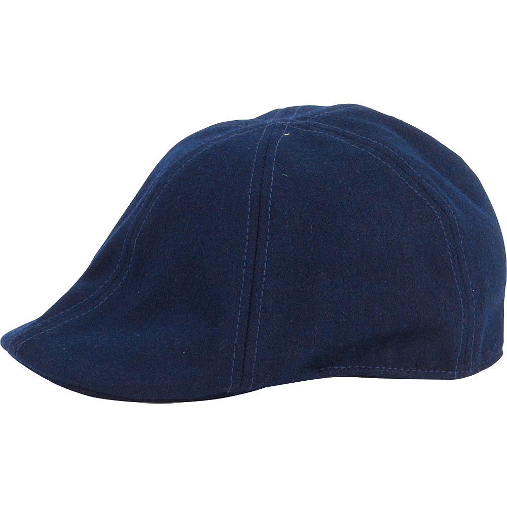 San Diego Hat Wool 6 Panel Driver with Inner Stretchband Navy San Diego Hat Hats Gloves Scarves