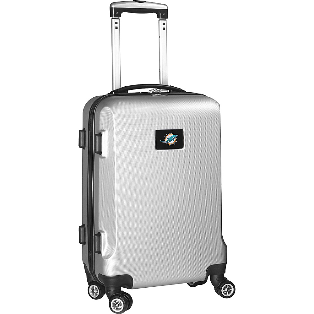 Denco Sports Luggage NFL 20 Domestic Carry On Silver Miami Dolphins Denco Sports Luggage Hardside Carry On