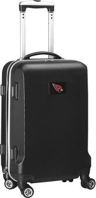 Denco Sports Luggage NFL Arizona Cardinals 20 inch Hardside Domestic Carry-On Spinner Black - Denco Sports Luggage Hardside Luggage