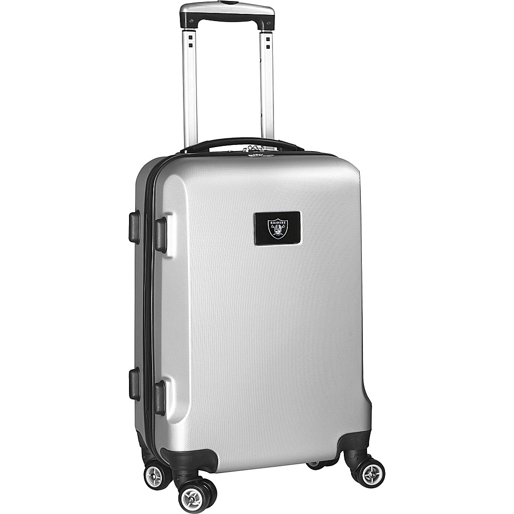 Denco Sports Luggage NFL 20 Domestic Carry-On Silver Oakland Raiders - Denco Sports Luggage Hardside Carry-On - Luggage, Hardside Carry-On