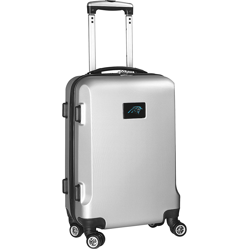 Denco Sports Luggage NFL 20 Domestic Carry-On Silver Carolina Panthers - Denco Sports Luggage Hardside Carry-On - Luggage, Hardside Carry-On