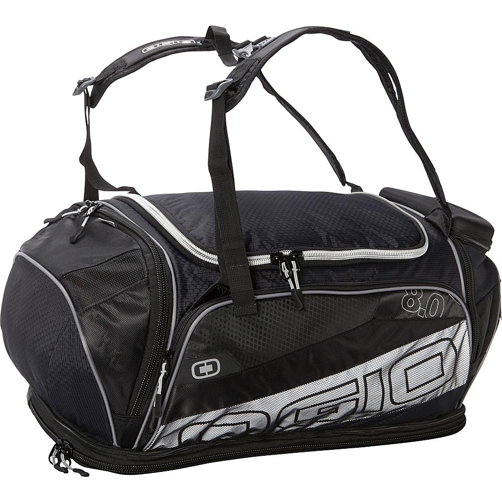 OGIO Endurance 8.0 Duffel Black Silver OGIO Gym Duffels