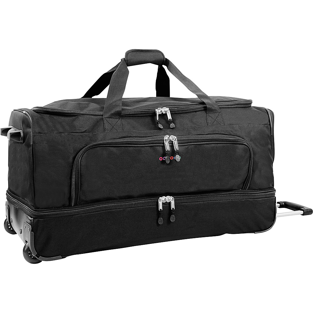 J World New York Piton 30 Drop Bottom Rolling Duffel Black J World New York Rolling Duffels
