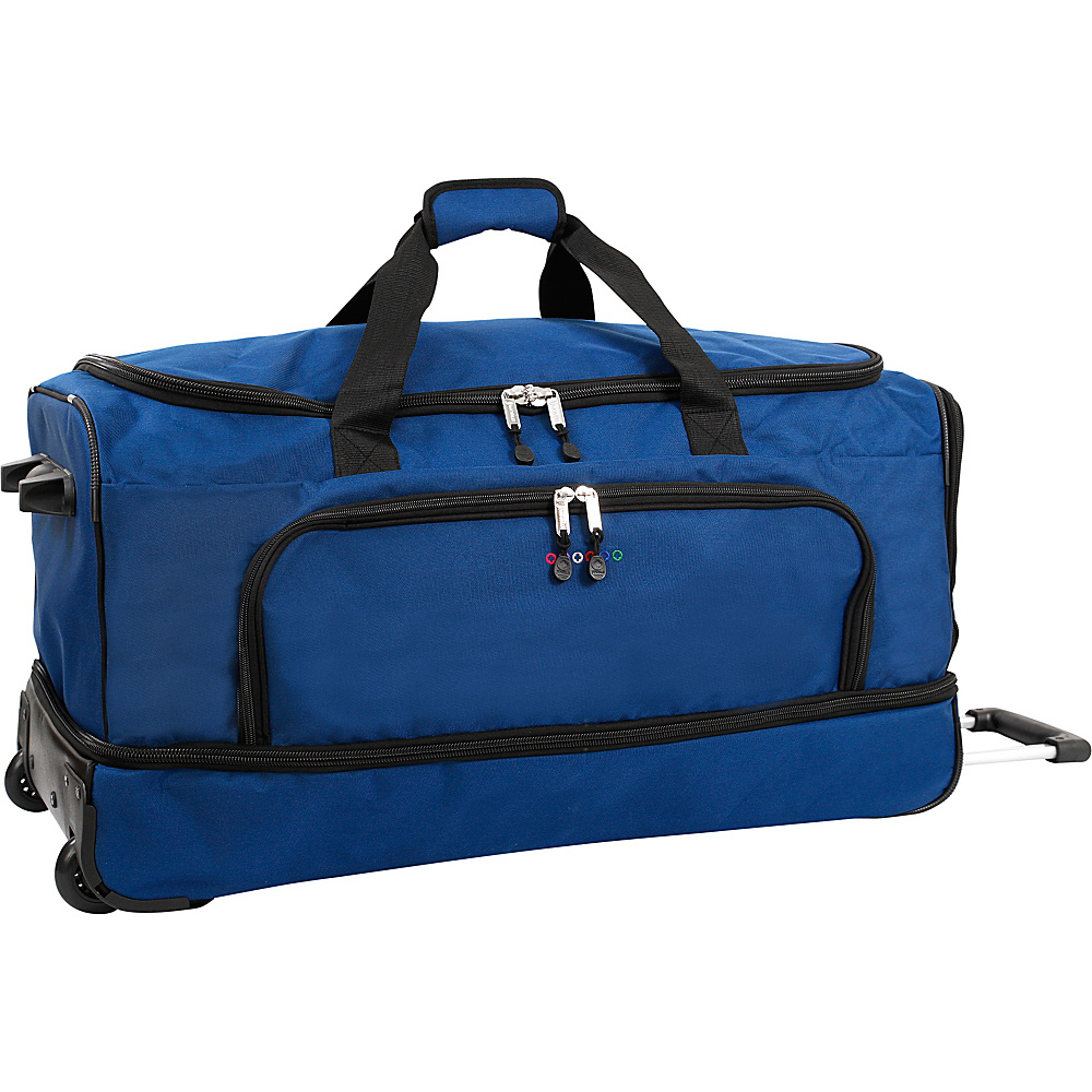 J World New York Piton 30 Drop Bottom Rolling Duffel Navy J World New York Rolling Duffels
