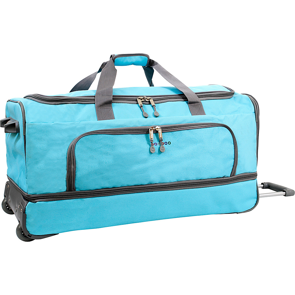 J World New York Piton 30 Drop Bottom Rolling Duffel Seafoam J World New York Rolling Duffels
