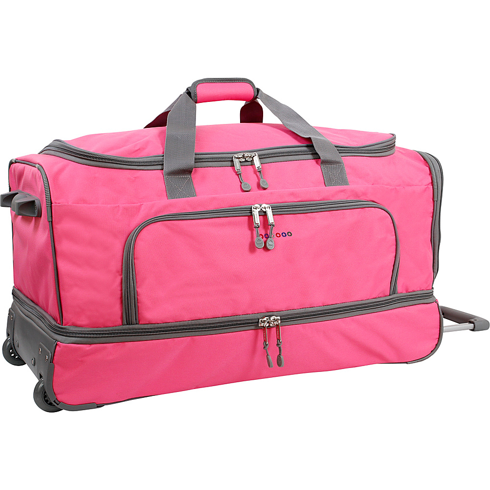 J World New York Piton 30 Drop Bottom Rolling Duffel Pink J World New York Rolling Duffels