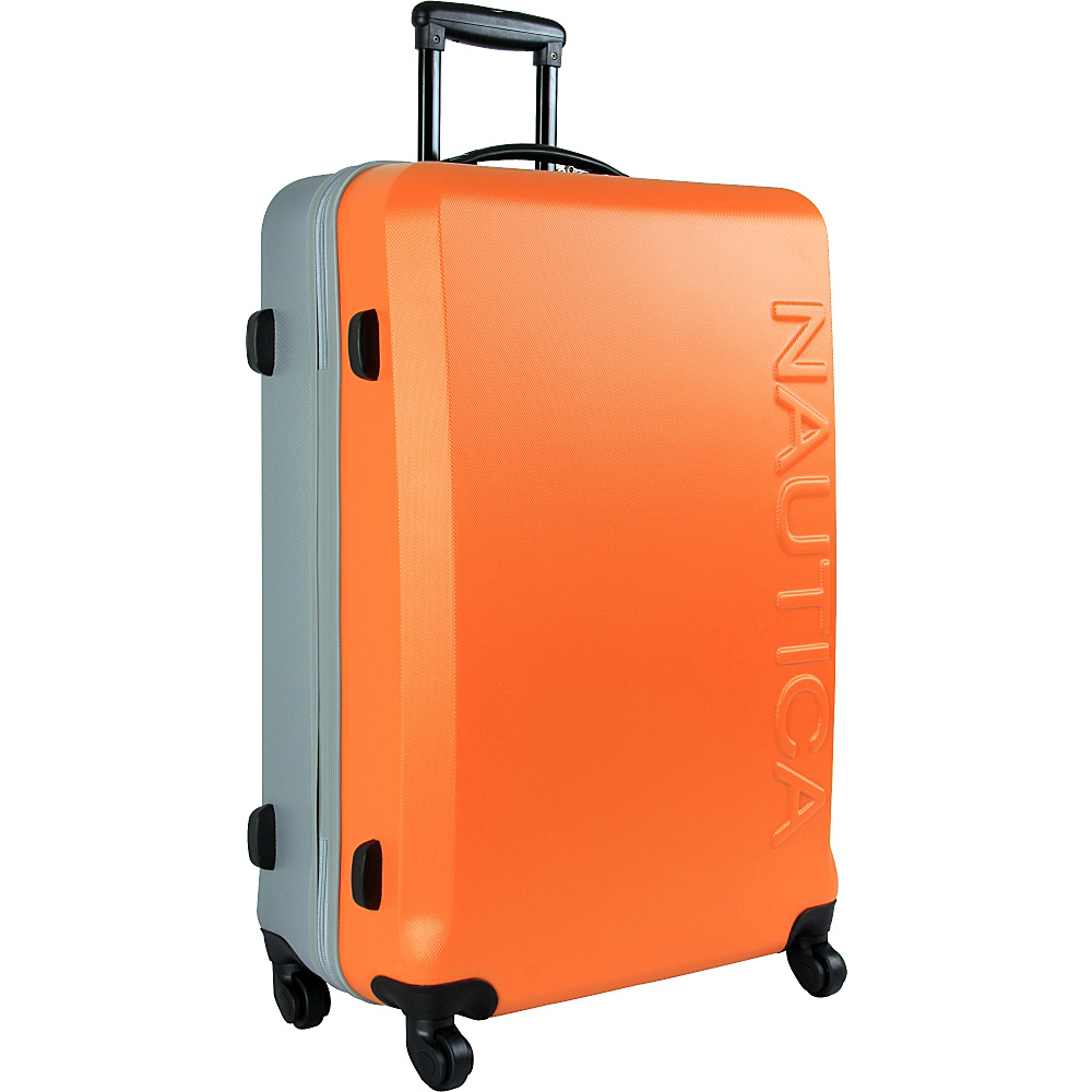 "Nautica Ahoy 28"" Hardside Spinner Orange/Silver/Silver - Nautica Hardside Luggage"