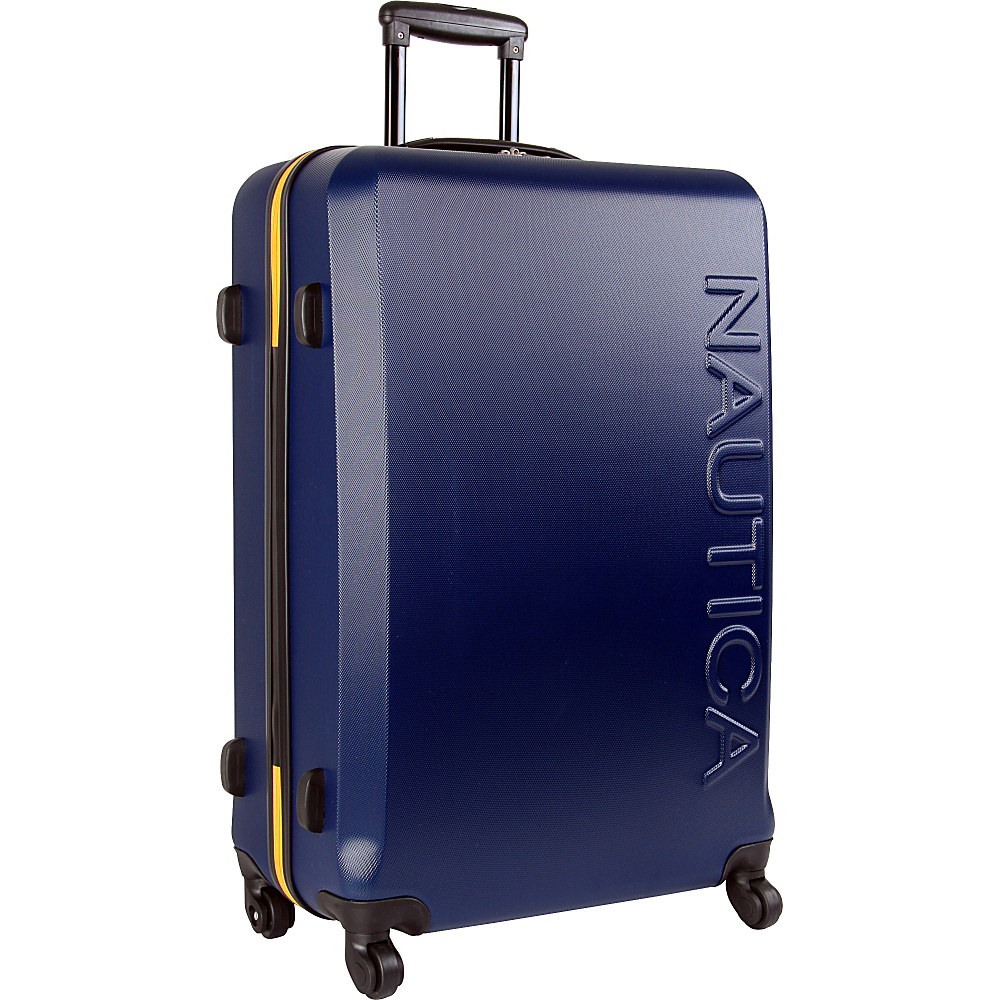 "Nautica Ahoy 28"" Hardside Spinner Navy/Navy/Yellow - Nautica Hardside Luggage"
