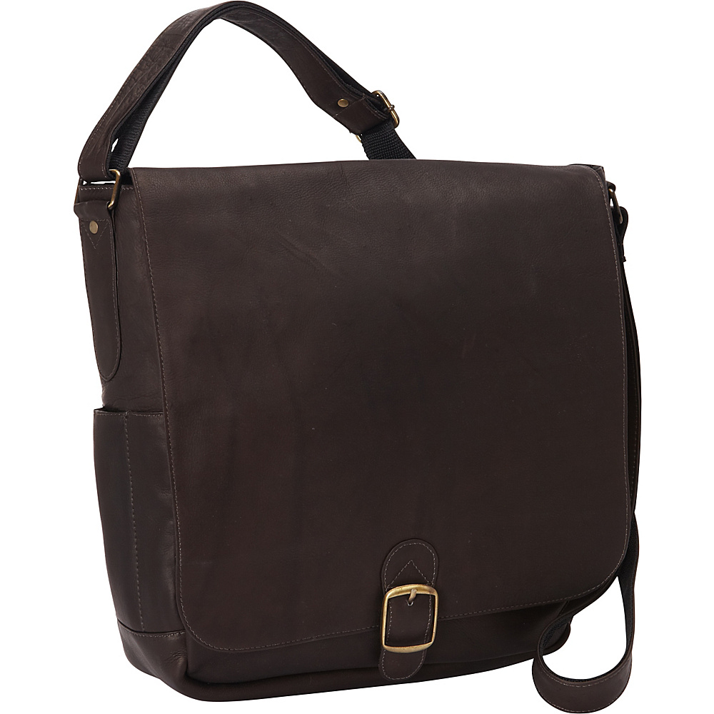 David King Co. Vertical Laptop Messenger Cafe David King Co. Messenger Bags
