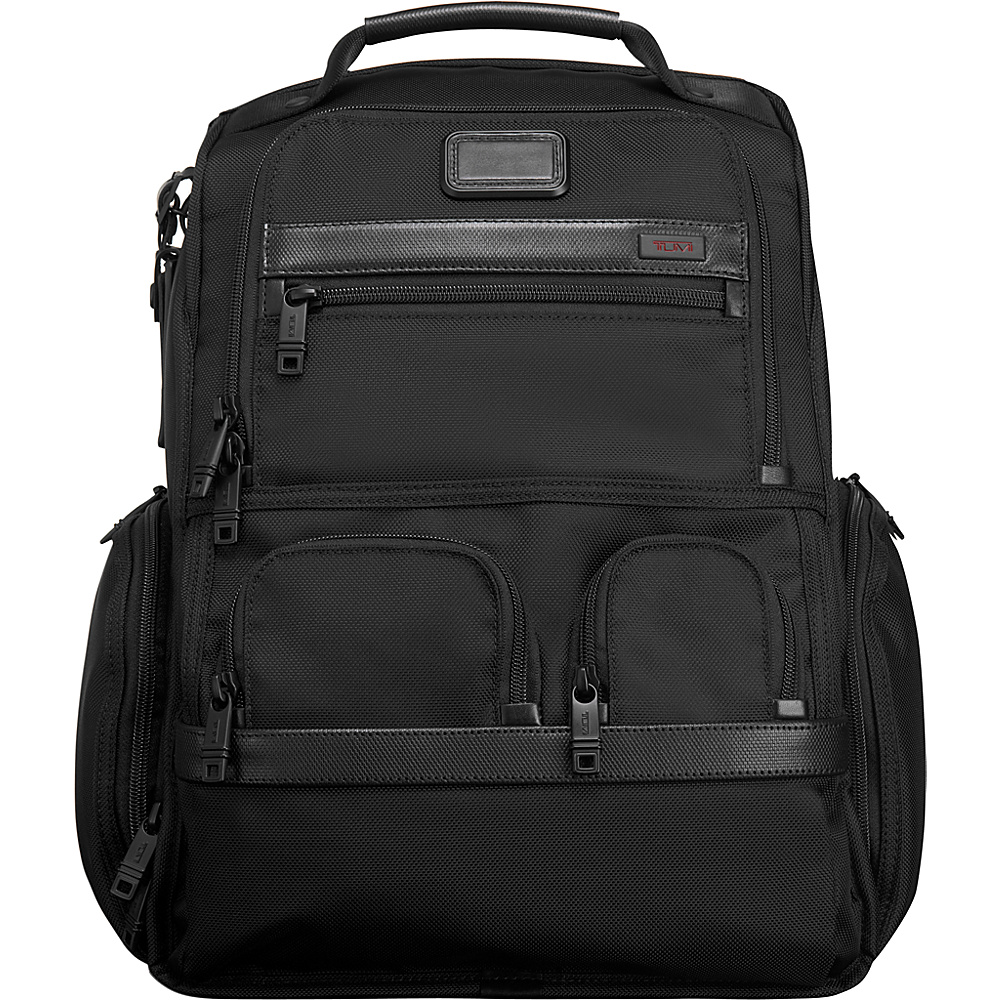 Tumi Alpha 2 Compact Laptop Brief Pack & Reg. Black - Tumi Business & Laptop Backpacks