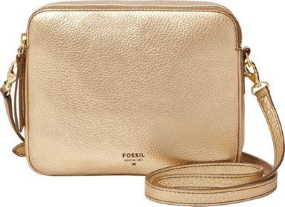 Fossil Sydney Crossbody Metallic Gold - Fossil Leather Handbags