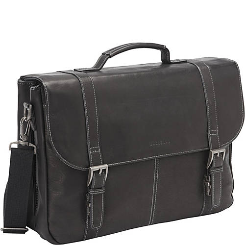 Heritage Colombian Leather Flapover Briefcase Ebags Com