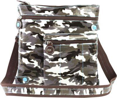 Urban Junket Jen Crossbody Grey Camouflage - Urban Junket Manmade Handbags