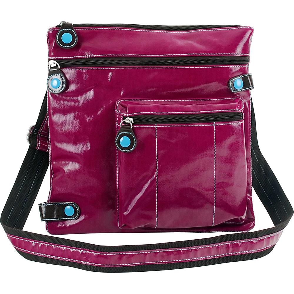 Urban Junket Jen Crossbody Magenta Urban Junket Manmade Handbags