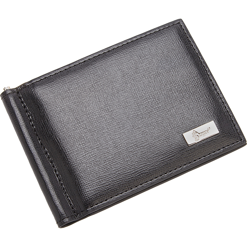Royce Leather RFID Blocking Saffiano Leather Money Clip Credit Card Front Pocket Wallet Black Royce Leather Men s Wallets