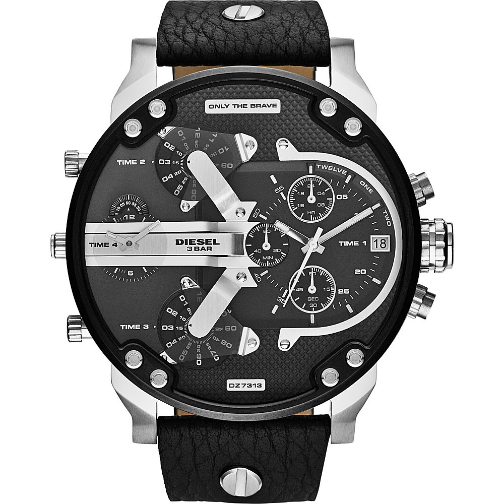 Diesel Watches Mr. Daddy 2.0 Watch Black Blue Diesel Watches Watches
