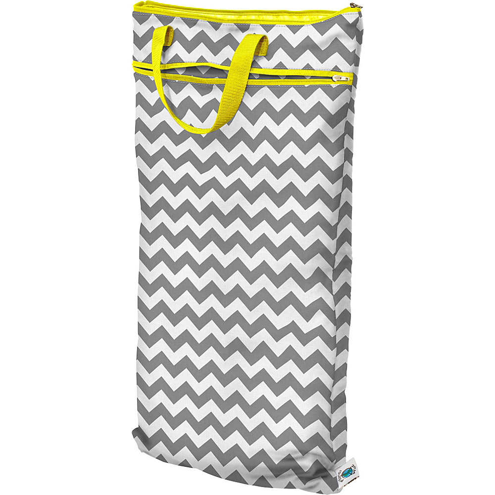 Planet Wise Hanging Wet Dry Bag Gray Chevron Planet Wise Diaper Bags Accessories
