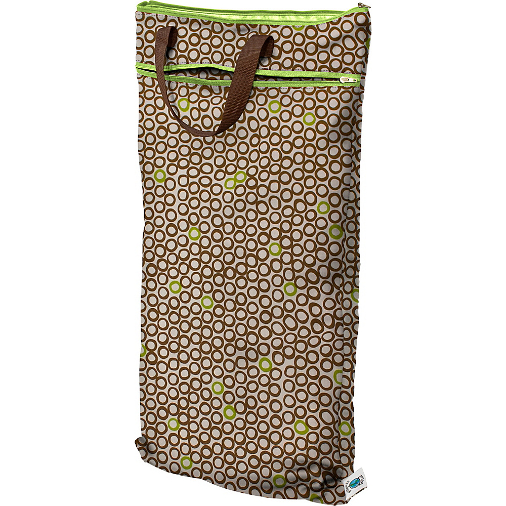 Planet Wise Hanging Wet/Dry Bag Lime Cocoa Bean - Planet Wise Diaper Bags & Accessories