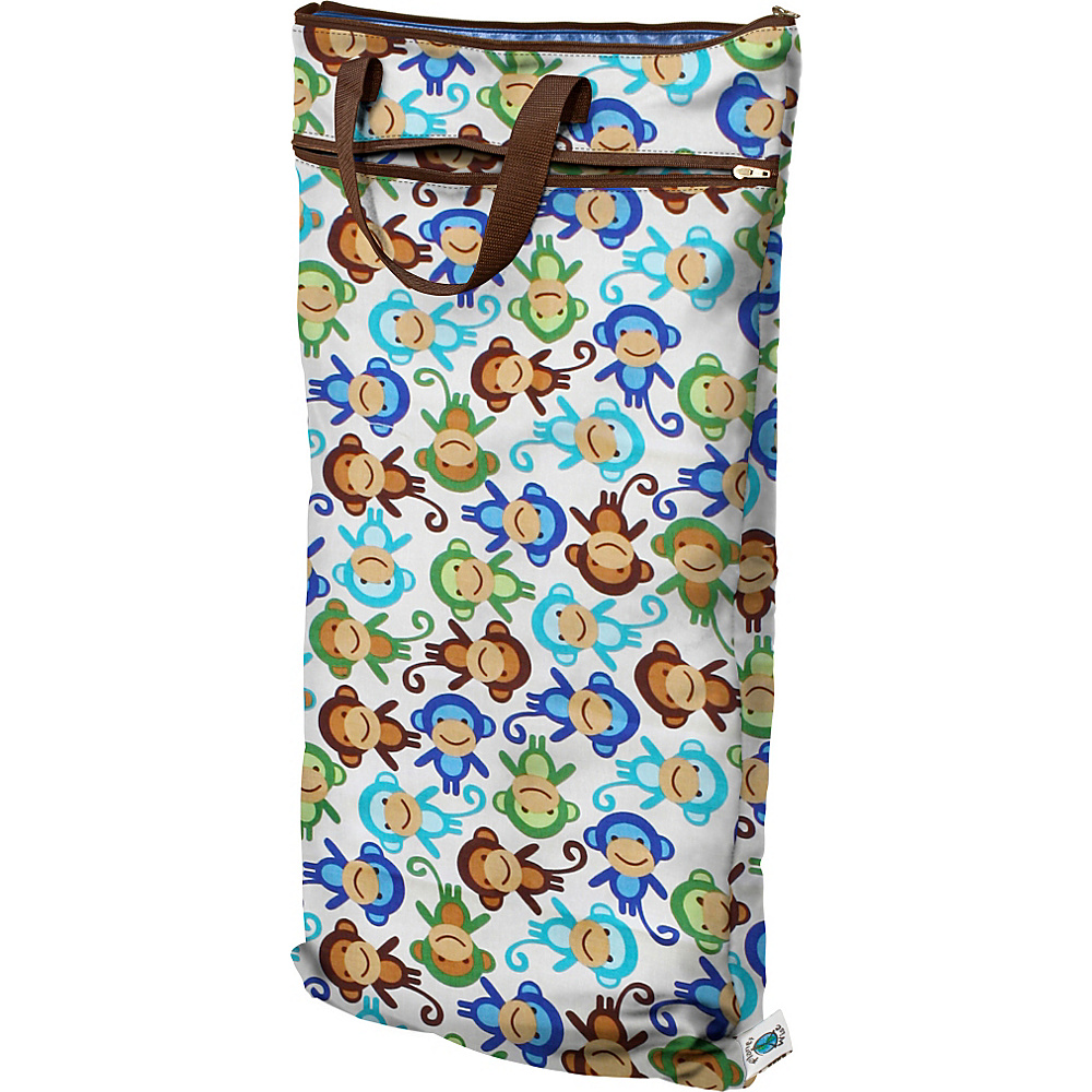 Planet Wise Hanging Wet Dry Bag Monkey Fun Planet Wise Diaper Bags Accessories